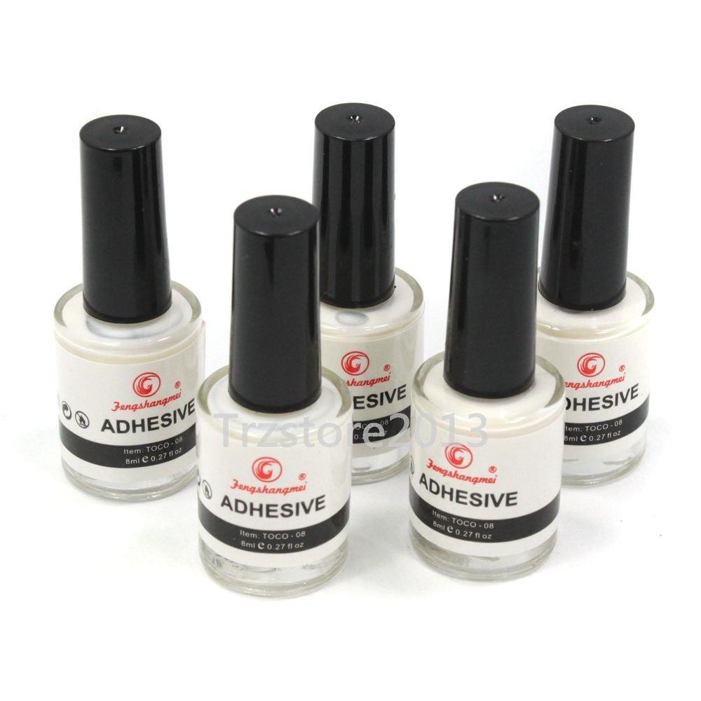 5 x Galaxy Star Nail Art White Glue Adhesive for Foil Sticker Nail Transfer Tips