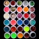 Professional 30 PCS Glitter Mix Color UV Builder Gel DIY Nail Art Tips US Seller