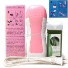 3in1 Pink Hair Removal Roller Depilatory Heater Waxing Warmer Strips Full Kit
