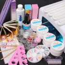 Pro 36W UV Dryer Lamp Glitter Powder French Nail Art Tips Gel Tools DIY Set