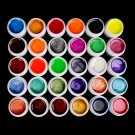 Hot Professional 30 Color Pearl UV Builder Gel Acrylic Nail Polish Tips Art Kit