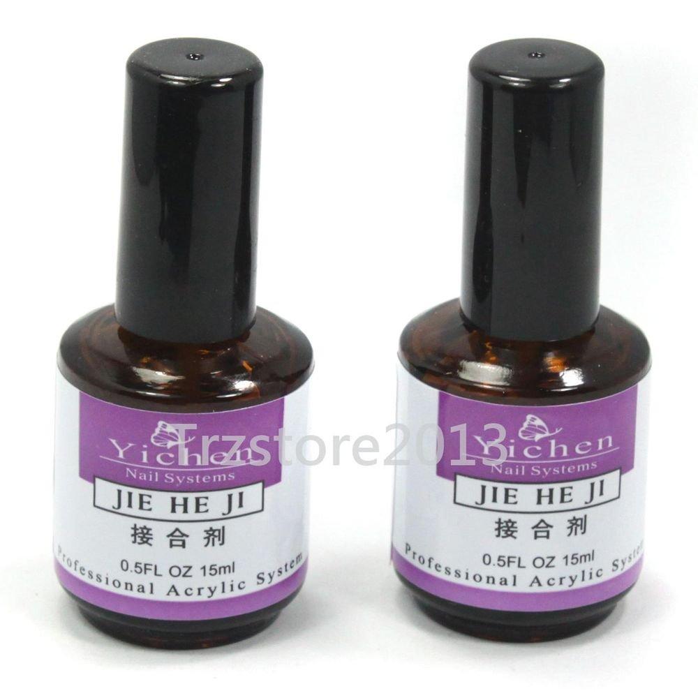 Pro 2 x Nail Art Primer Base Gel UV Gel Polish for Acrylic Decoration Tips 15ml