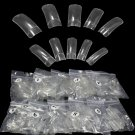 500pcs Clear French Acrylic Artificial False Half Fake Nail Art Tips Makeup DIY