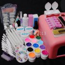 25 in 1 Nail Art Full Set 36W UV Lamp Pure Color UV Gel Tips Decoreations Tools