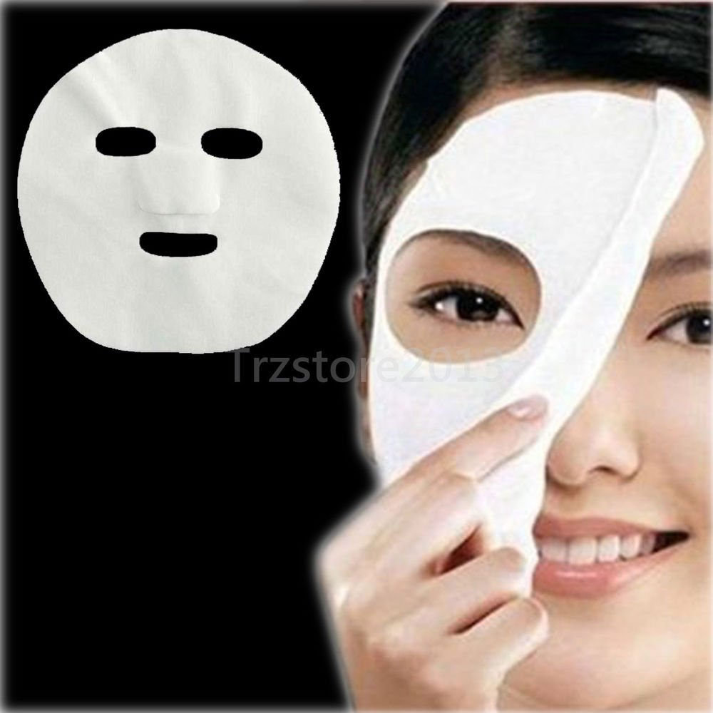 100 PCS Lady Nonwoven DIY Facial Mask Face Masks Paper Cotton SPA Salon Tool