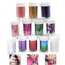 12 Color Galaxy Nail Art Tips Design Transfer Foils Sticker Decoration Kit Set