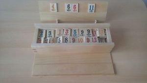 Wood rummy,rummikub game,children's,travel game,strategy,family game,board game