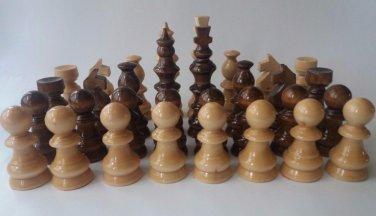 New big huge handmade hazel wooden chess piece set King is 12.5 cm, 4.92 in
