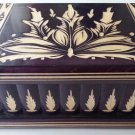 New big huge deep violet wooden jewelry secret magic puzzle box case adventure
