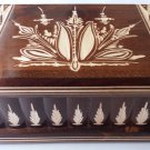New big huge brown jewelry magic puzzle box secret compartment hidden drawer