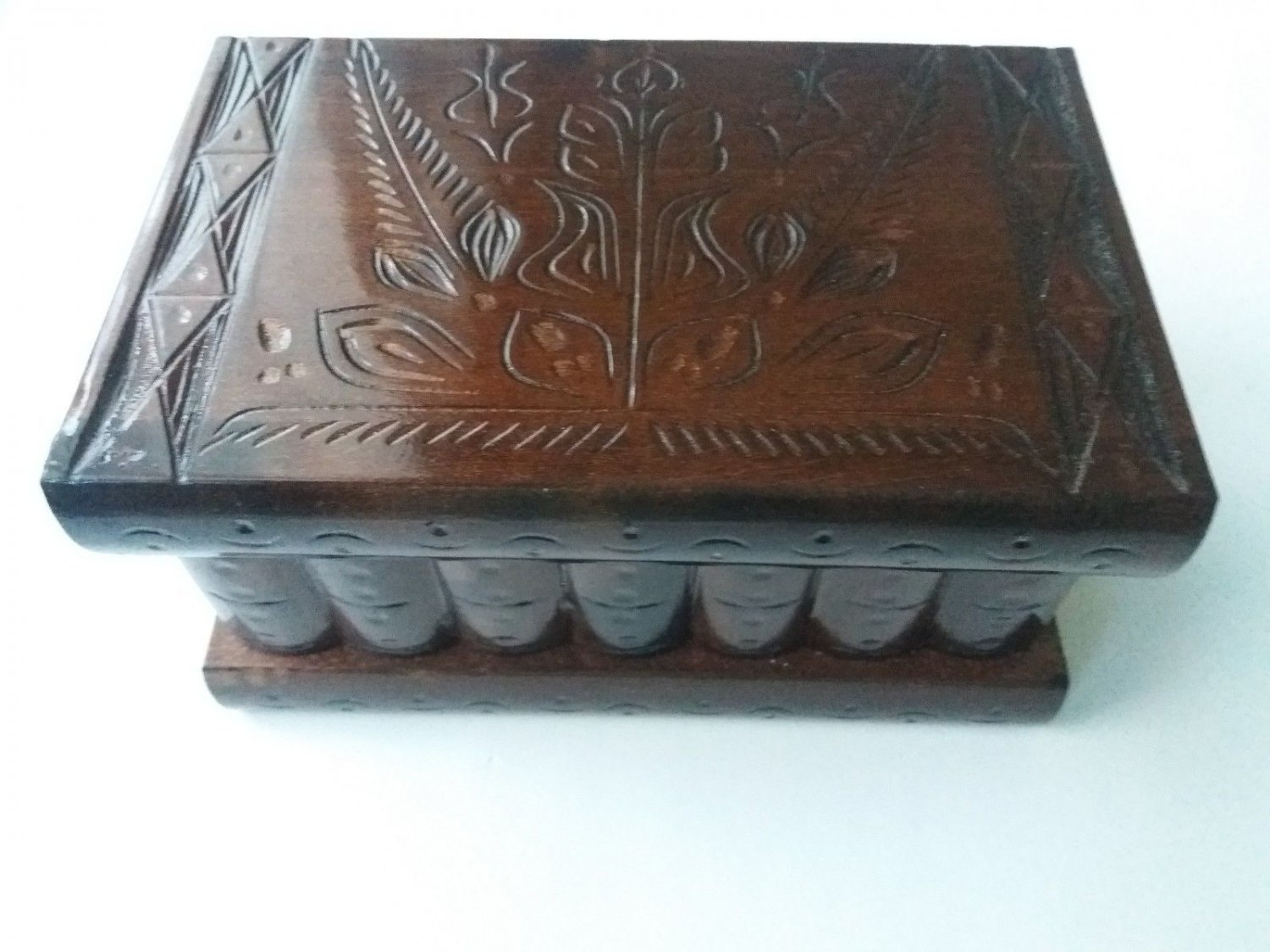 New special brown handcarved wooden wizard jewelry puzzle magic box brain teaser