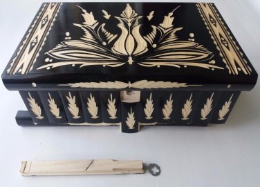 New Premium rare wooden huge biggest giant jewelry magic puzzle box on ebay