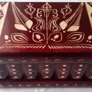New handcrafted artisan wooden puzzle box secret jewelry storage magic box case