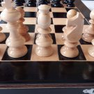 New black hazel wood chess piece,beech wood chessboard box backgammon checkers