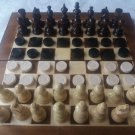 New travel wooden chess set backgammon checkers chess piece,wood chessboard box