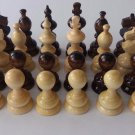 New european handmade hazel wooden chess pieces set King is 7.2 cm, 2.83 in