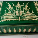 New big,huge handcarved green wooden puzzle secret magic jewelry box case gift
