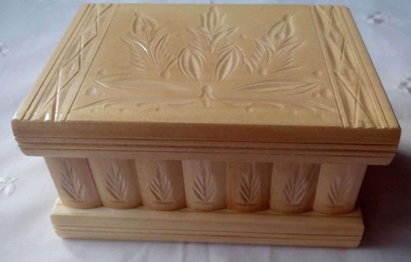 Natural puzzle box wooden wizard mystery jewelry magic box secret brain teaser