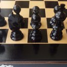 New 17.5 x 17.5 in chessboard box,hazel wood chess piece set backgammon,checkers
