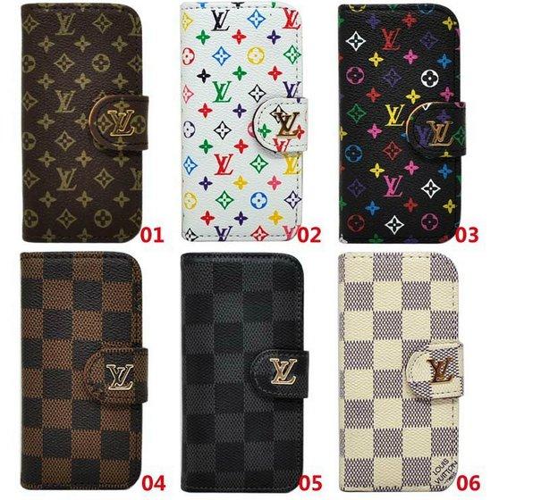 LV iPhone 5 5S Flip Case Wallet Cover