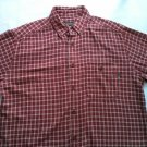 Woolrich Mens Flannel Shirt L Large Red Plaid White Camping Size Long Sleeve Men