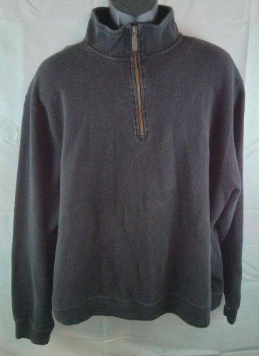 Eddie Bauer Black Pullover X Large XL Coat Jacket 1/4 Zip Mens Turtleneck Size