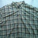 Large Chaps 3XB Plaid Long Sleeve Shirt XXX L Dress Casual Plaid Cowboy Men Tall
