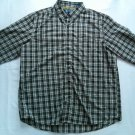 Large Chaps Black Check Plaid Mens Shirt Button Up L Long Sleeve Yellow Dress