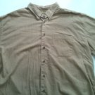 Izod 2X Mens Casual Dress Shirt Long Sleeve XXL 2 X Large XX Brown 2XL Button Up