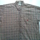 Izod XL Mens Casual Dress Shirt Long Sleeve Paisley X Large Button Club Logo 1X