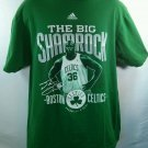 Green Shaq Shaquille O'Neal Celtics Shirt Large T 36 Big Shamrock Boston Adidas