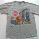 Grant Hill Joe Dumars Detroit Pistons T Shirt Medium M Gray Vintage 1990s NBA