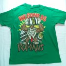 Green Large T Shirt We Came As Romans WCAR Donkey Gorilla Monkey L Concert Tour