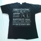 Grand Ol Ole Old Opry Black T Shirt Nashville TN Tennessee Small S Concert Tour