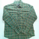 Woolrich Long Sleeve Womens Plaid Shirt Medium M Green Check Button Front Ladies