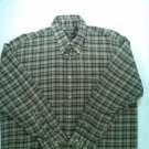 Woolrich Long Sleeve Mens Flannel Shirt X L Large XL 1X Plaid Hunting Green