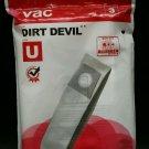"""Dirt Devil U Bag Contains """"2"""" Unused Bags In Original Package"""