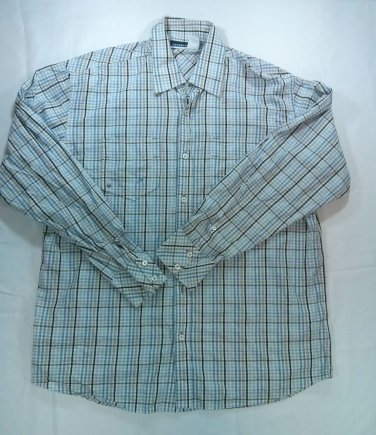 Roca Wear Mens Shirt Long Sleeve Button Front Check Plaid Pocket Large Rocawear