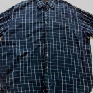 Mens Perry Ellis Portfolio Shirt XXL Blue Plaid 2X XX Check Long Sleeve 2XL 2 X