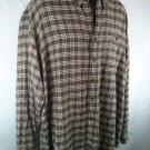 Woolrich Check Plaid Flannel 2Xl Men's Shirt 2X Long Sleeve 100% Cotton
