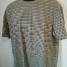 Calvin Klein XL T Shirt Stripe Striped Green 100% Cotton Soft Mens Men Men's Man