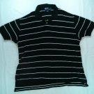 Ralph Lauren Polo Black Mens Shirt White Pony Logo L Large Short Sleeve Golf