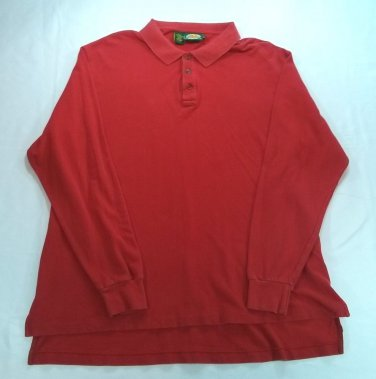 Cabelas Red Long Sleeve Mens Polo Shirt Long Sleeve Hunting Outdoor Gear XL X L
