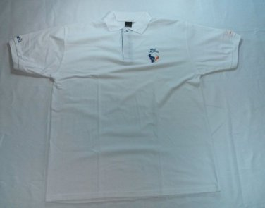 Aquaholic 4XL Mens Shirt XXXXL 4X XXXX L 4 White Golf Polo West Taurus Seadrill