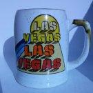White ceramic Las Vegas mug 70s 80s cup