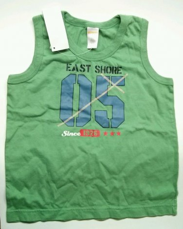 Boys Gymboree Tank Top 05 East Shore Summer Fishing Since 1926 Green size 5