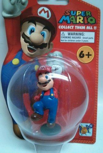 Popco Super Mario Action Figure NIP On Card Variant rare Missing Fist Series 1
