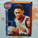 White Large Dennis Rodman Detroit Pistons T Shirt 10 Jersey Retire Retro L 1990