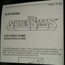 WWF Superstars LCD Watch Video Game Instruction Only Video Game Rude Hulk Hogan