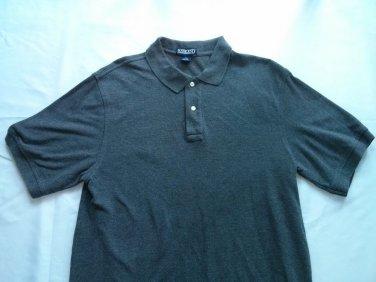 Lands End Dark Gray Polo Mens Shirt Short Sleeve Collar M Medium 38-40 Regular